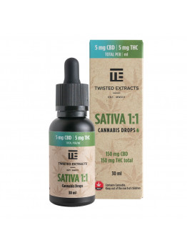 Sativa 1:1 Drops (150 mg THC + 150 mg CBD)