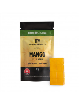 Mango Jelly Bomb : 80mg THC Sativa